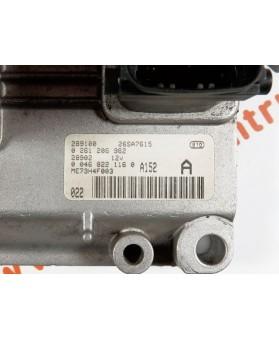 Centralina de Motor ECU Fiat Punto 1.2 00468221160, 004 6822 1160, 0261206982, 0 261 206 982, 261 206 982, 26SA7615