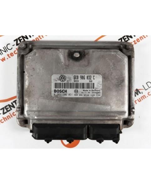 Centralita de Motor ECU Seat Leon 1.6I 6K0906032C, 6K0 906 032 C, 0261206031, 0 261 206 031, 261 206 031, 26SA5883