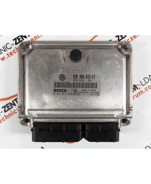 Centralina de Motor ECU Skoda Fabia 1.9 TDI 038906019KT, 038 906 019 KT, 0281011219, 0 281 011 219, 281 011 219, 1039S02920