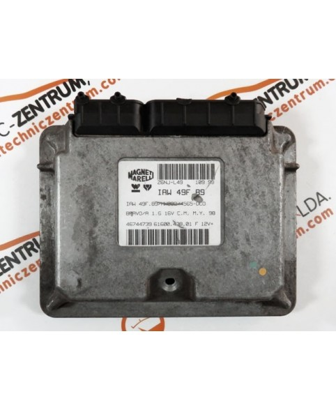 Engine Control Unit Fiat Bravo 1.6I 46744739, 6160043801, 61600.438.01, IAW49FB9