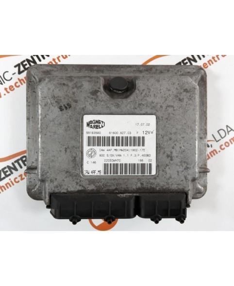 Module - Boitier ECU Fiat Seicento 1.1I 55183580, 55 183 580, 6160062703, 61600.627.03, IAW4AFM9
