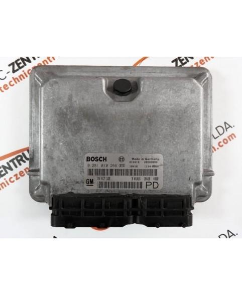 Centralina de Motor ECU Opel Zafira 2.0 DTI 24417169, 24 417 169, 0281010268, 0 281 010 268, 281 010 268, 28SA9999