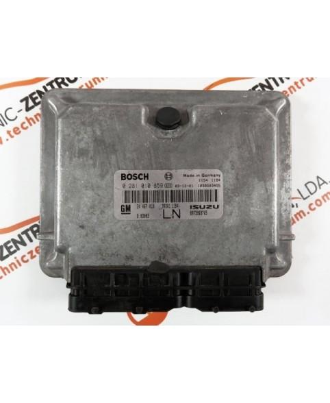Engine Control Unit Opel Astra 1.9 CDTI 24467018, 24 467 018, 0281010859, 0 281 010 859, 281 010 859, 1039S03495