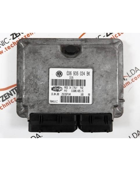 Engine Control Unit Skoda Fabia 1.4I 036906034BK, 036 906 034 BK, 6160048915, 61600.489.15, IAW4LVC, 6160048917, 61600.489.17