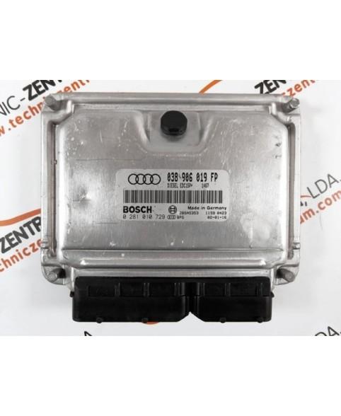 Centralina de Motor ECU Audi A4 1.9 TDI 038906019FP, 038 906 019 FP, 0281010729, 0 281 010 729, 281 010 729, 28SA5353, 1039S00226