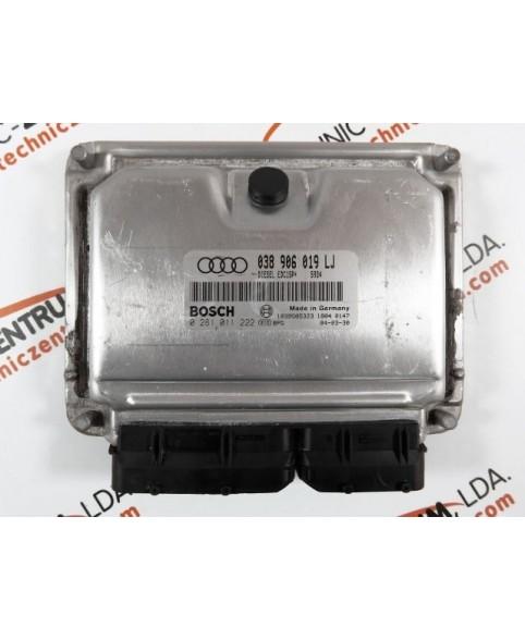 Centralina de Motor ECU Audi A4 1.9 TDI 038906019LJ, 038 906 019 LJ, 0281011222, 0 281 011 222, 281 011 222, 1039S05323