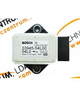 Sensor de Aceleração Suzuki SX4 3394554L00, 339 455 4L 00, 0265005802, 0 265 005 802