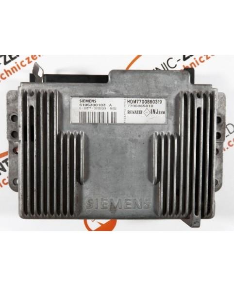 Centralita de Motor ECU Renault Megane 1.6 7700865810, 7700 865 810, S105300103A, S105300103 A, HOM7700860319, HOM 7700 860 319