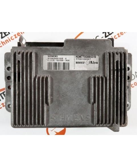 Centralina de Motor ECU Renault Kangoo 1.4 7700102267, 7700 102 267, S105300103C, S105300103 C, HOM7700860319, HOM 7700 860 319
