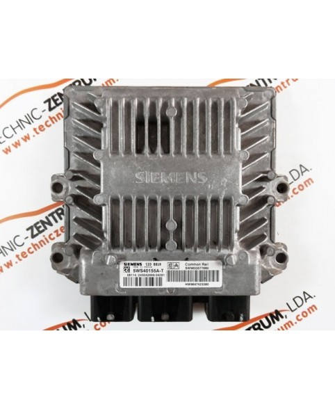 Engine Control Unit Citroen Berlingo, Peugeot Partner 2.0 HDI 9653577680, 96 535 776, 5WS40155AT, 5WS4 0155AT, 9653577680, 96 535 776 80, 9647423380, 96 474 233 80, SID881A