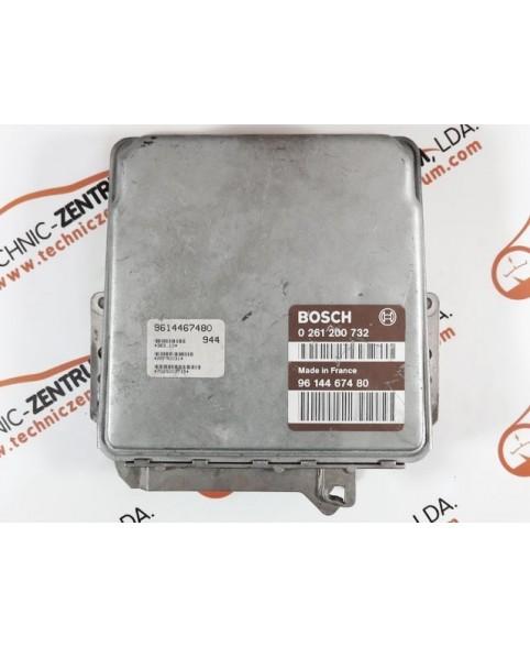Centralina de Motor ECU Peugeot 306 1.4i 9614467480, 96 144 674, 0261200732, 0 261 200 732, 261 200 732, 26FM0031