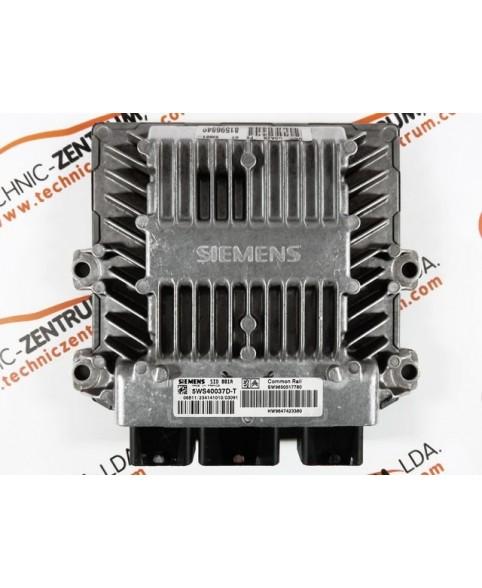 Centralina de Motor ECU Peugeot 406 2.0 HDI 9650517780, 96 505 177, 5WS40037DT, 5WS4 0037DT, 9650517780, 96 505 177 80, 9647423380, 96 474 233 80