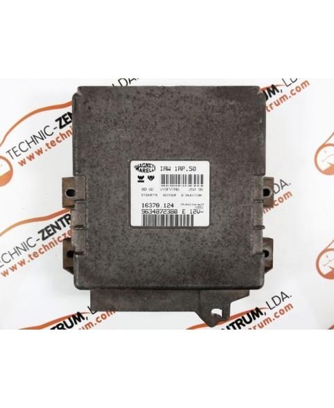 Centralina de Motor ECU Citroen Saxo 1.4 9634872380E, 96 348 723 E, 16370124, 16370.124, IAW1AP50