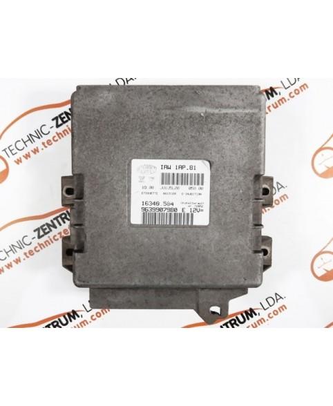 Centralina de Motor ECU Citroen Saxo 1.4i 9639907980E, 96 399 079 E, 16340584, 16340.584, IAW1AP81