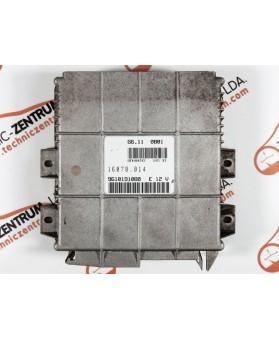 Centralina de Motor ECU Peugeot 205, Citroen AX 1.1i 9610191080E, 96 101 910 E, 16070014, 16070.014, G6110B01