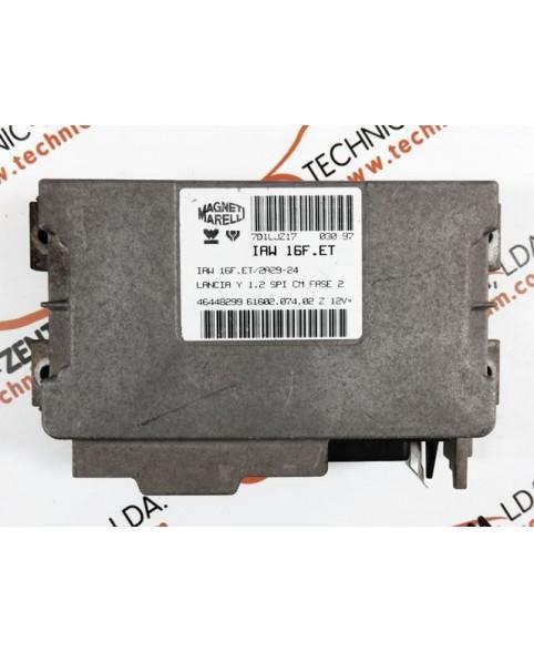 Centralina de Motor ECU Lancia Y 1.2 46448299, 6160207402, 61602.074.02, IAW16FET