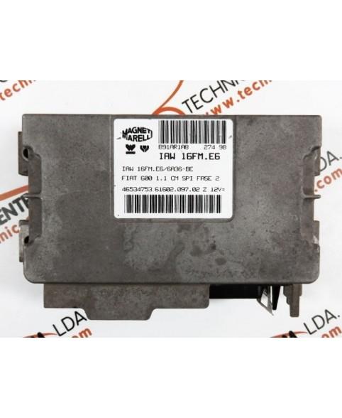 Centralina de Motor ECU Fiat 600 1.1i 46534753, 6160209702, 61602.097.02, IAW16FME6