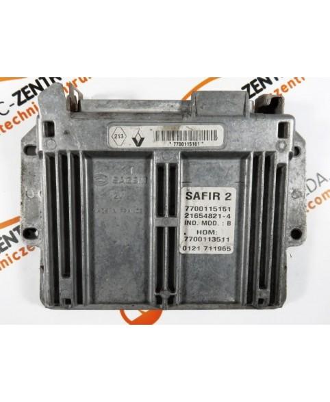 Centralina de Motor ECU Renault Twingo 1.2 7700115161, 7700 115 161, 216548214, 7700113511, 7700 113 511