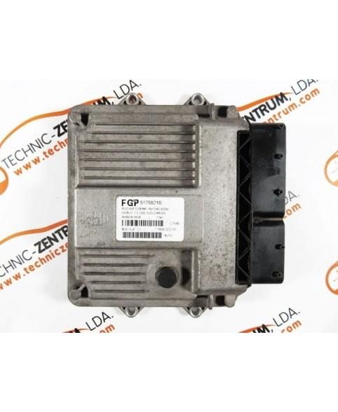 Centralina de Motor ECU Fiat Doblo 1.3 JTD 51758210, 7160003301, 71600.033.01, MJD6JFD3