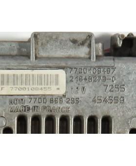 Centralina de Motor ECU Renault Clio 1.2 7700108487, 7700 108 487, 216492730, 7700108455, 7700 108 455, HOM7700868295, HOM 7700 868 295
