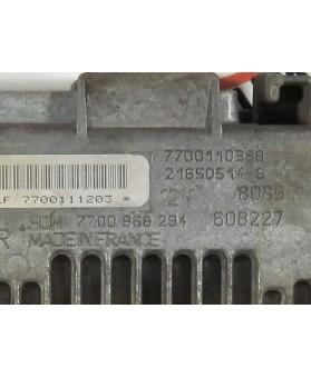 Centralina de Motor ECU Renault Clio 1.2 7700110388, 7700 110 388, 216505148, HOM7700868294, HOM 7700 868 294