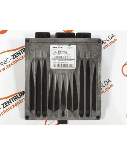Centralina de Motor ECU Renault Megane 1.5 DCI 8200374152, 8200 374 152, R0410B024B, R 0410B024 B, 81044B8200334419, 8200 334 419