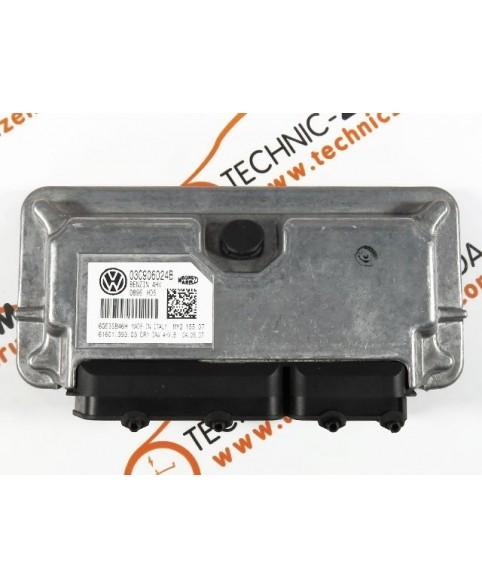 Centralina de Motor ECU Skoda Fabia 1.4 03C906024B, 03C 906 024 B, 6160139303, 61601.393.03, IAW4HVB