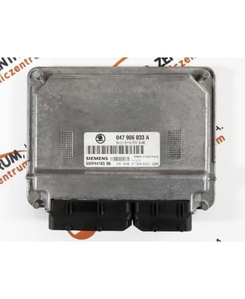 Centralina de Motor ECU Skoda Fabia 1.4 047906033A, 047 906 033 A, 5WP4419306, 5WP4 419306