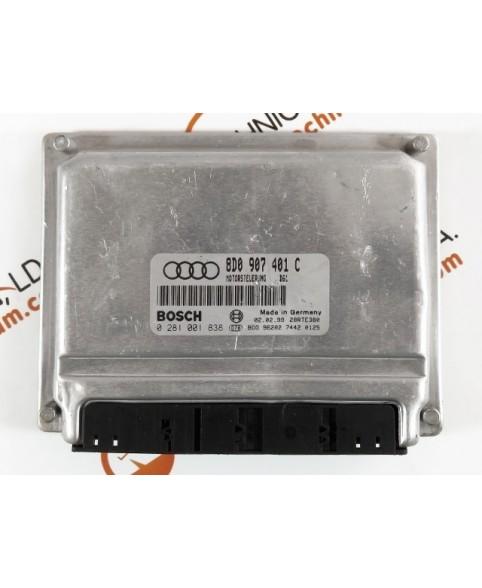 Centralina de Motor ECU Audi A4 2.0 TDI 8D0907401C, 8D0 907 401 C, 0281001838, 0 281 001 838, 281 001 838, 28RTE380
