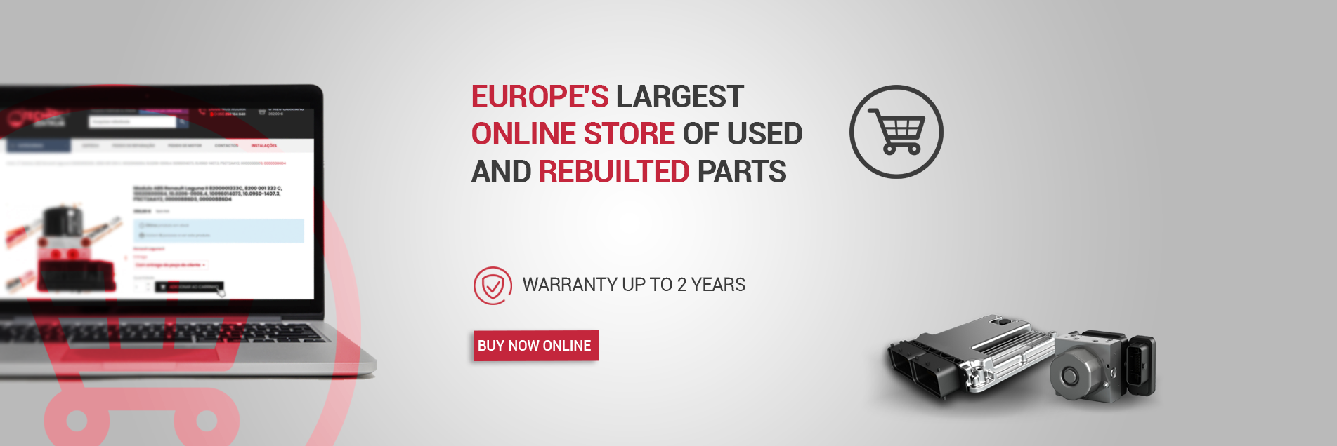 Europe's largest online store of used and rebuilted parts
