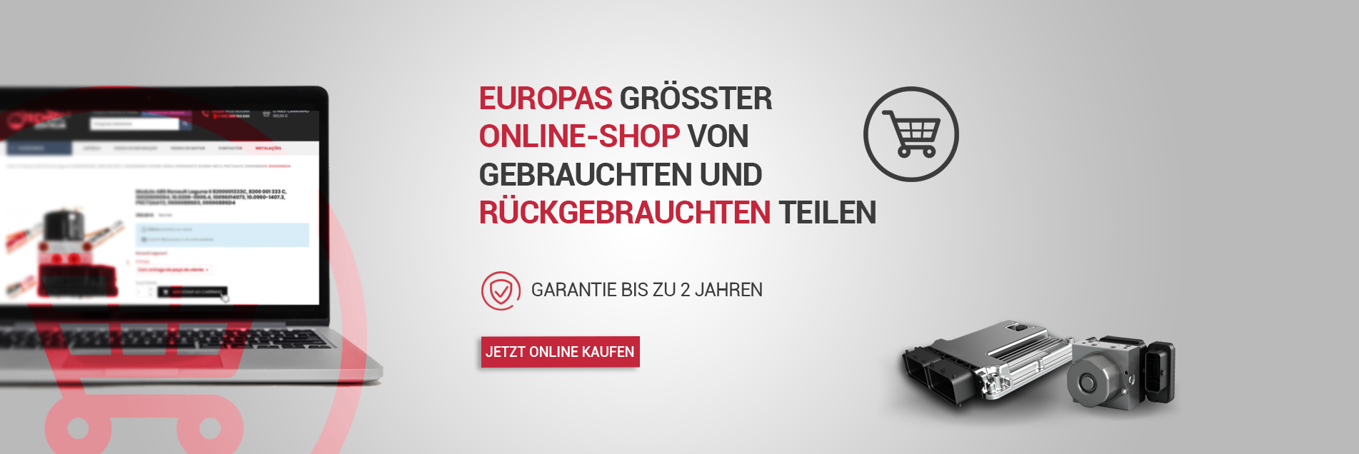 Größter Online-Autoteilespeicher in Europa. Verkauf von abs Modulen im techniczentrum.