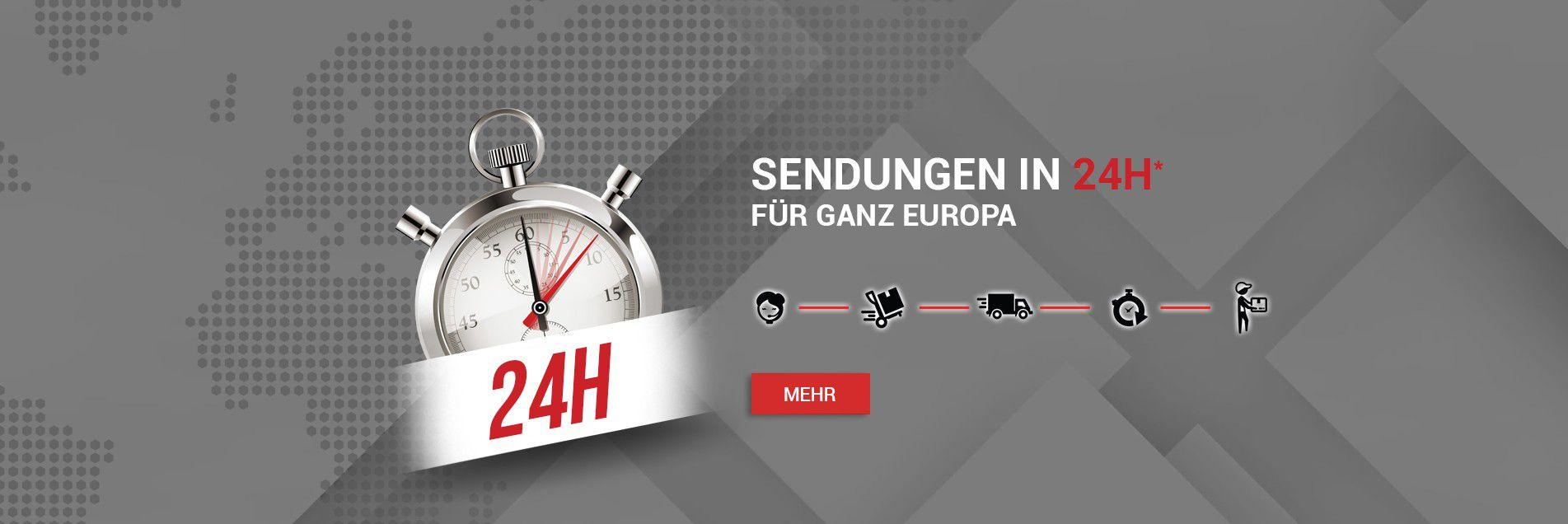 sendungen in 24h für ganz europa