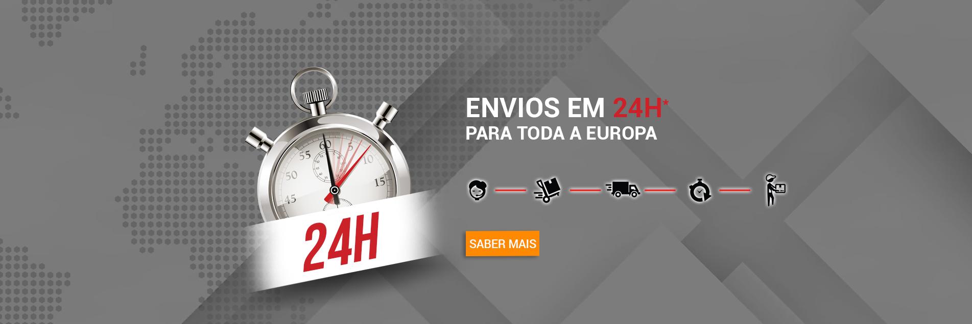 envios em 24h para toda a europa