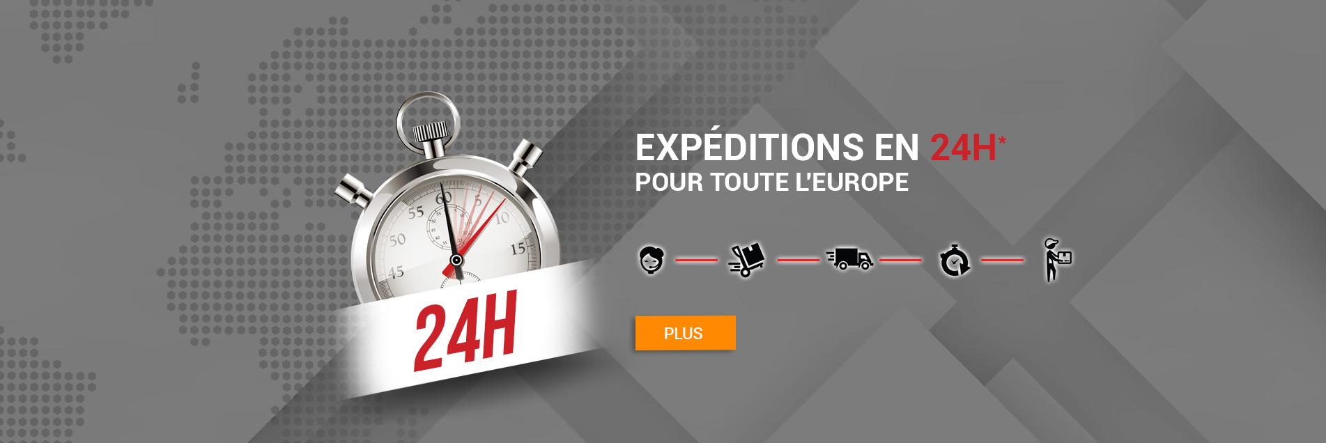expéditions en 24h pour toute l'europe
