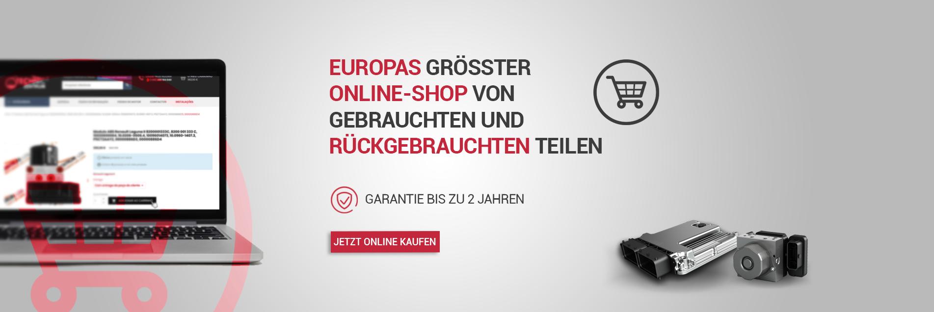 Europas grösster Online-Shop von gebrauchten und rückgebrauchten teilen