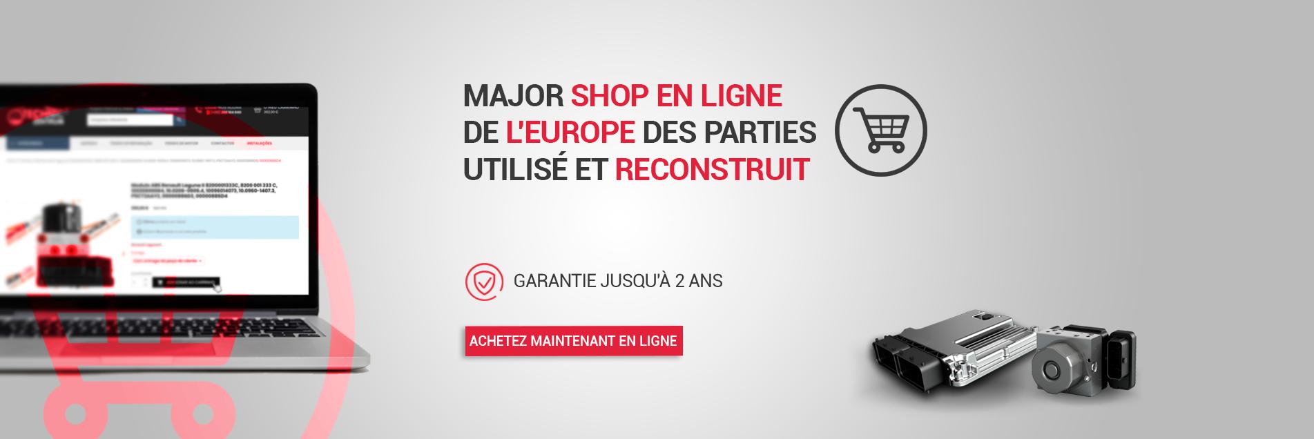 Major shop en ligne de l'Europe des parties utilisé et reconstruit